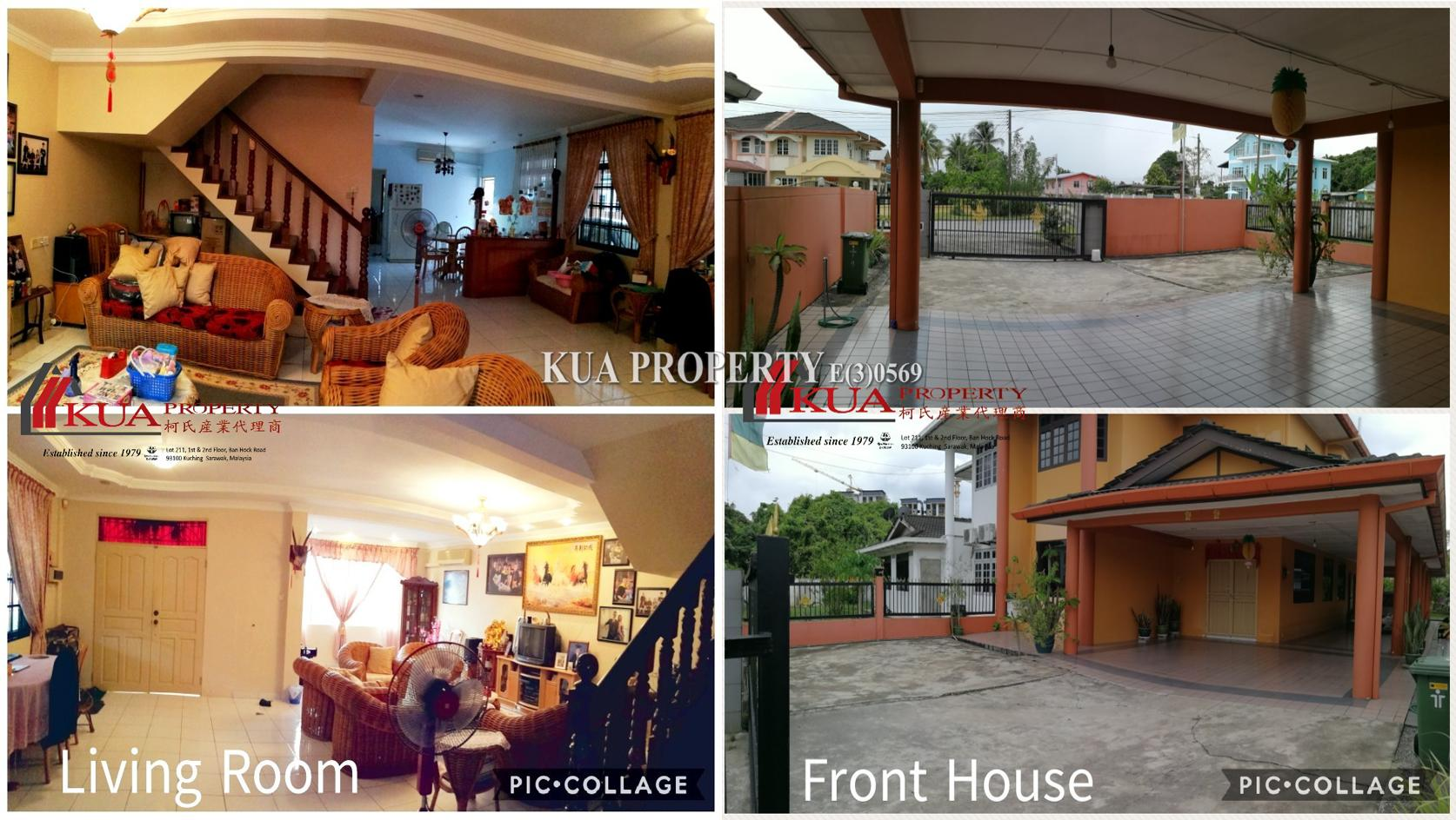 Double Storey Semi-Detached House For Sale at RPR Batu Kawa, Kuching